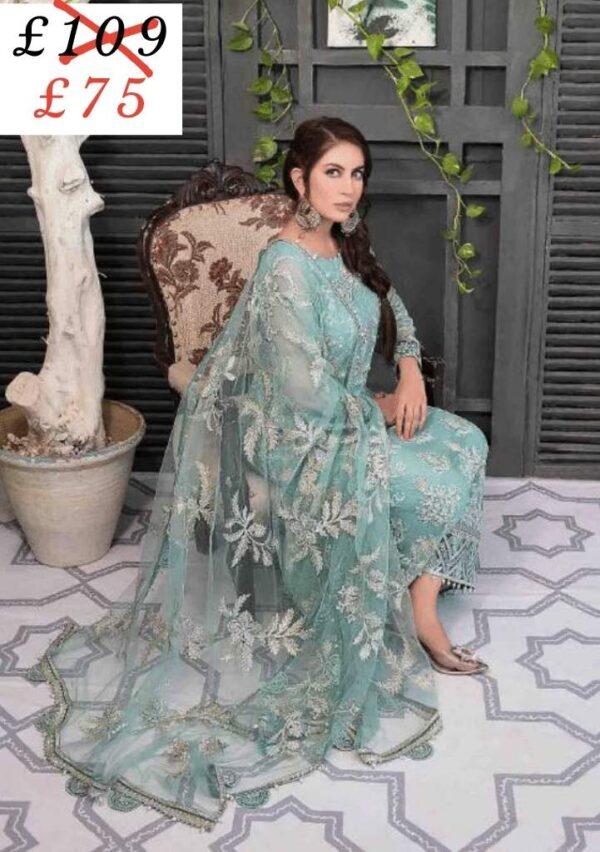 Pakistani Designer Dresses tawakkal fabrics wedding collection