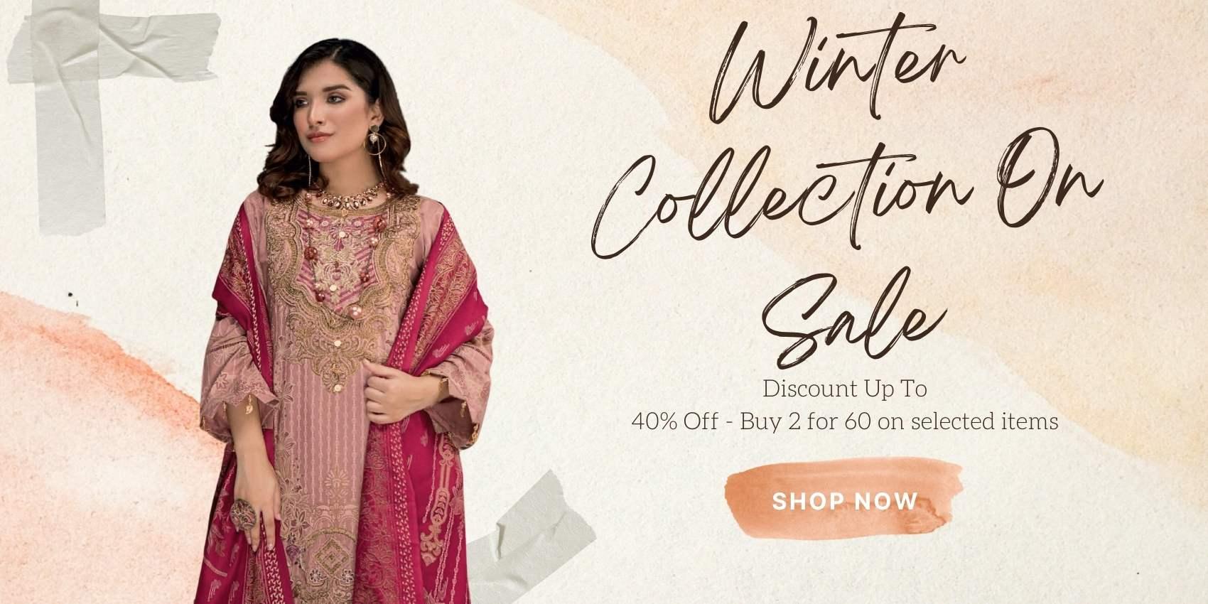 Pakistani Designer Dresses winter collection